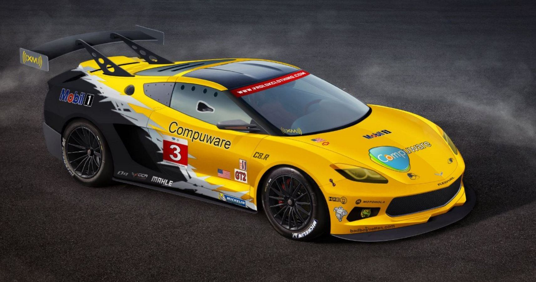 Mid-Engine Chevrolet Corvette C8.R Race Car Spotted In Testing