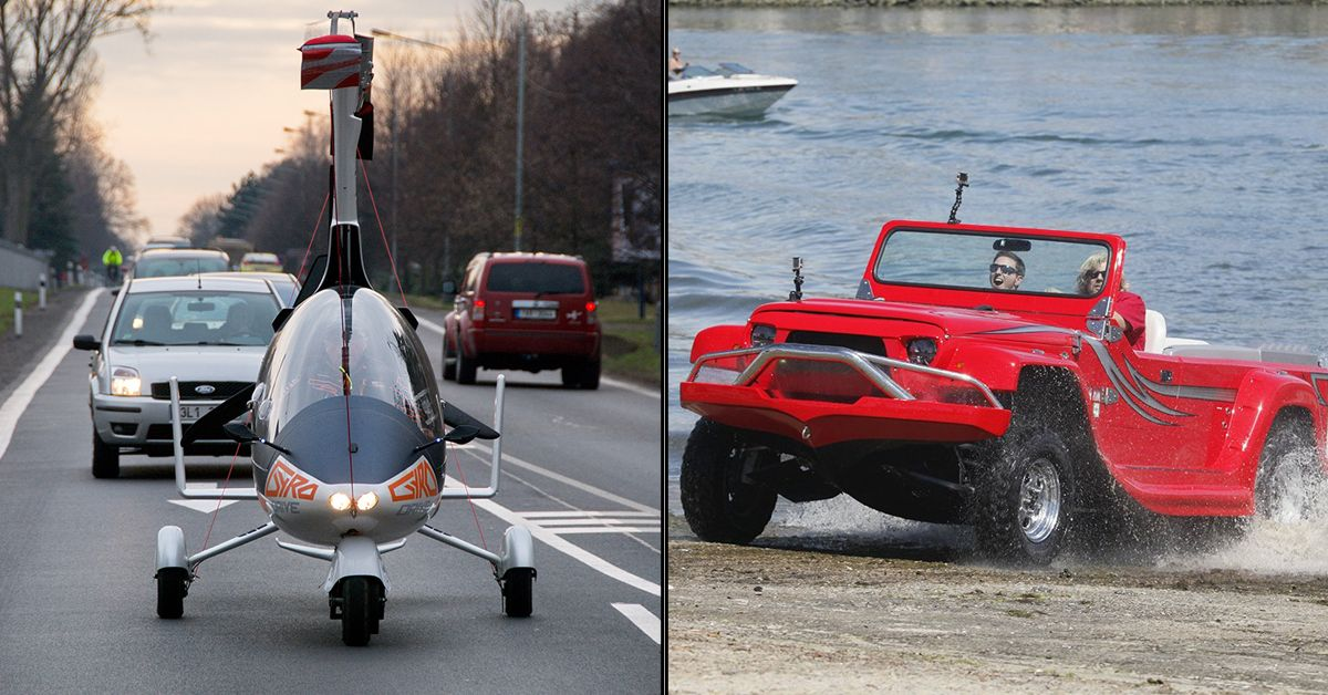 10 Cars That Can Drive On Water And 8 Cars That Can Fly