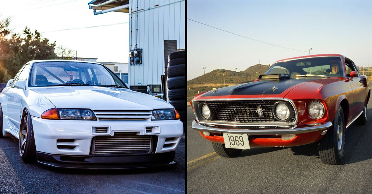 10 Best Domestic Muscle Cars And 10 Jdm Performance Cars That Have