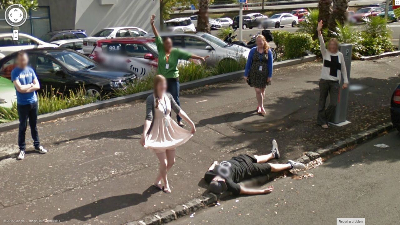 Street view images crazy google 80 funny,