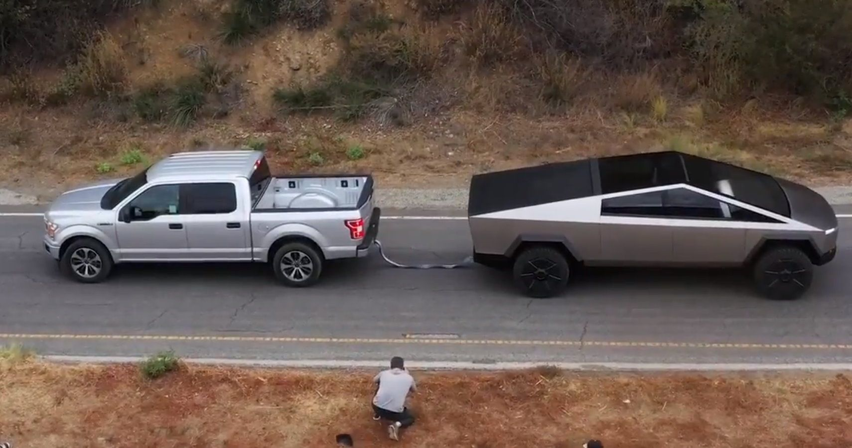 Tesla Cybertruck Pulls Ford F-150 Up A Hill In Tug-Of-War ...