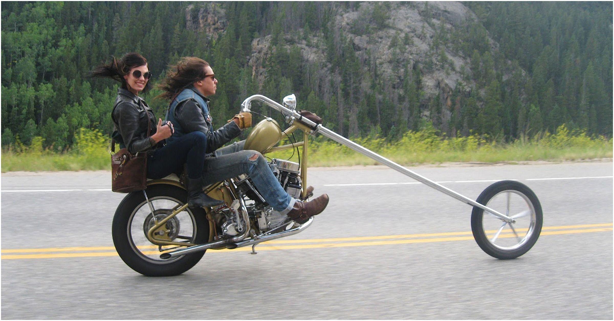 14 Disturbing Photos Of People Who Modified Their Bikes