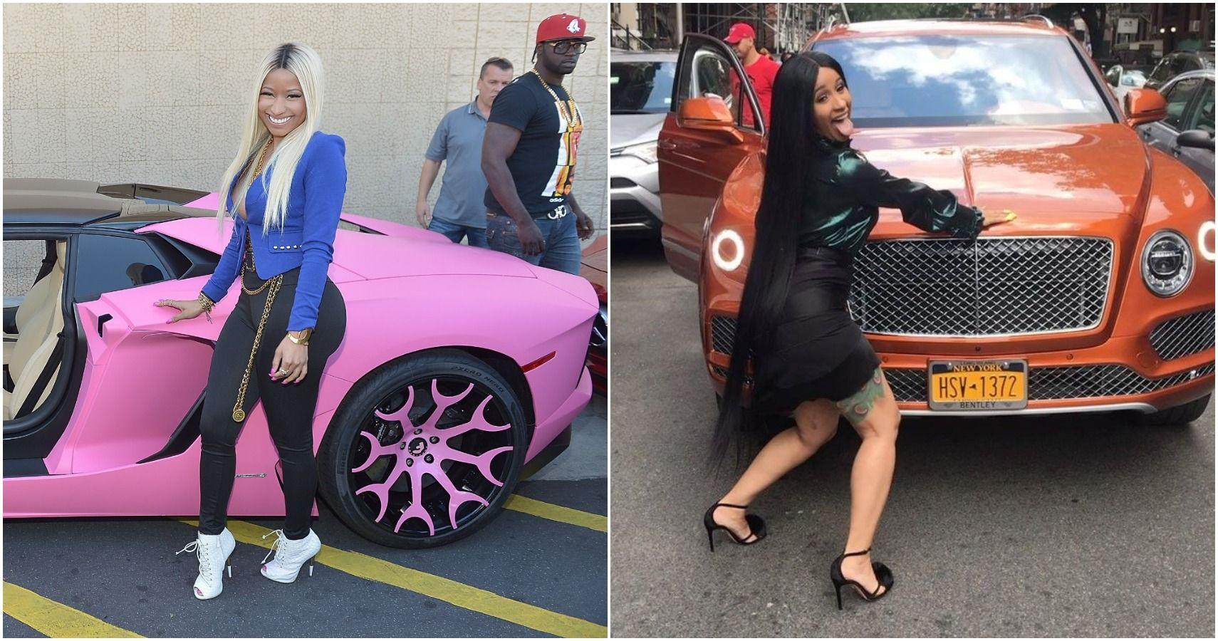 Should Nikki Minaj Be Jealous Of Cardi B's Car Collection?
