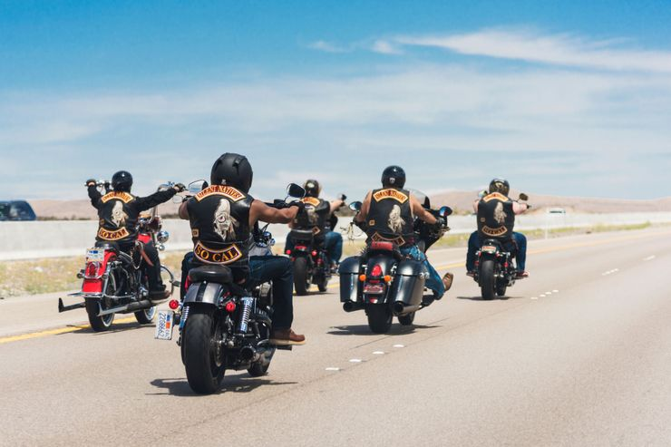 Pack of Hells Angels Riders