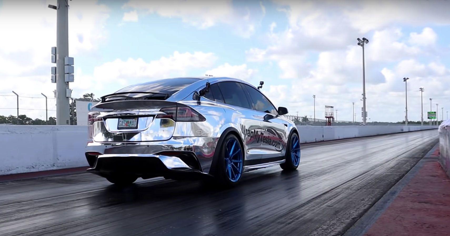 Tesla Model X Performance With Cheetah Stance Runs World Record Quarter-Mile