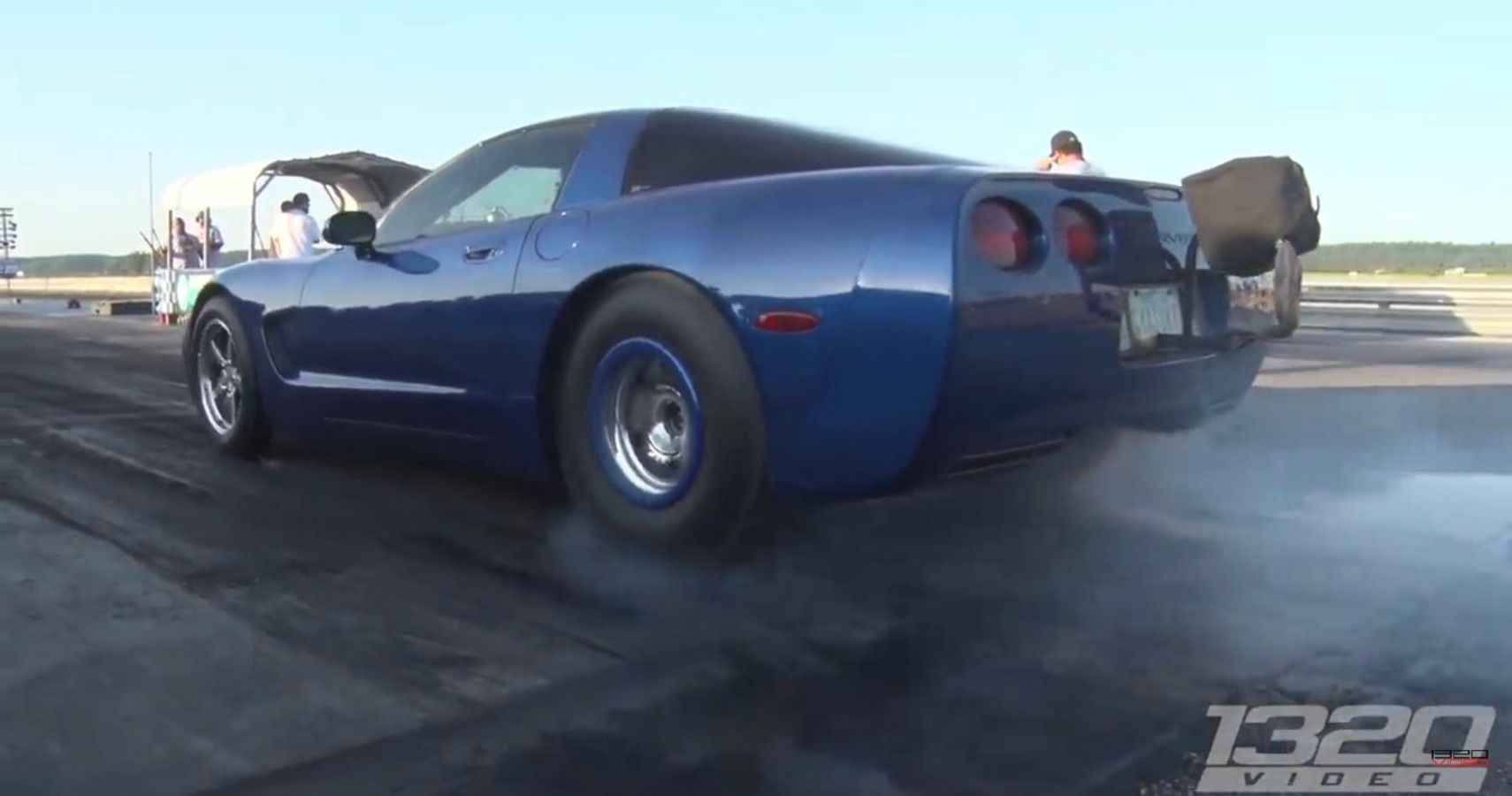 1320Video Highlights A Procharged Corvette Running 148MPH Down The Strip