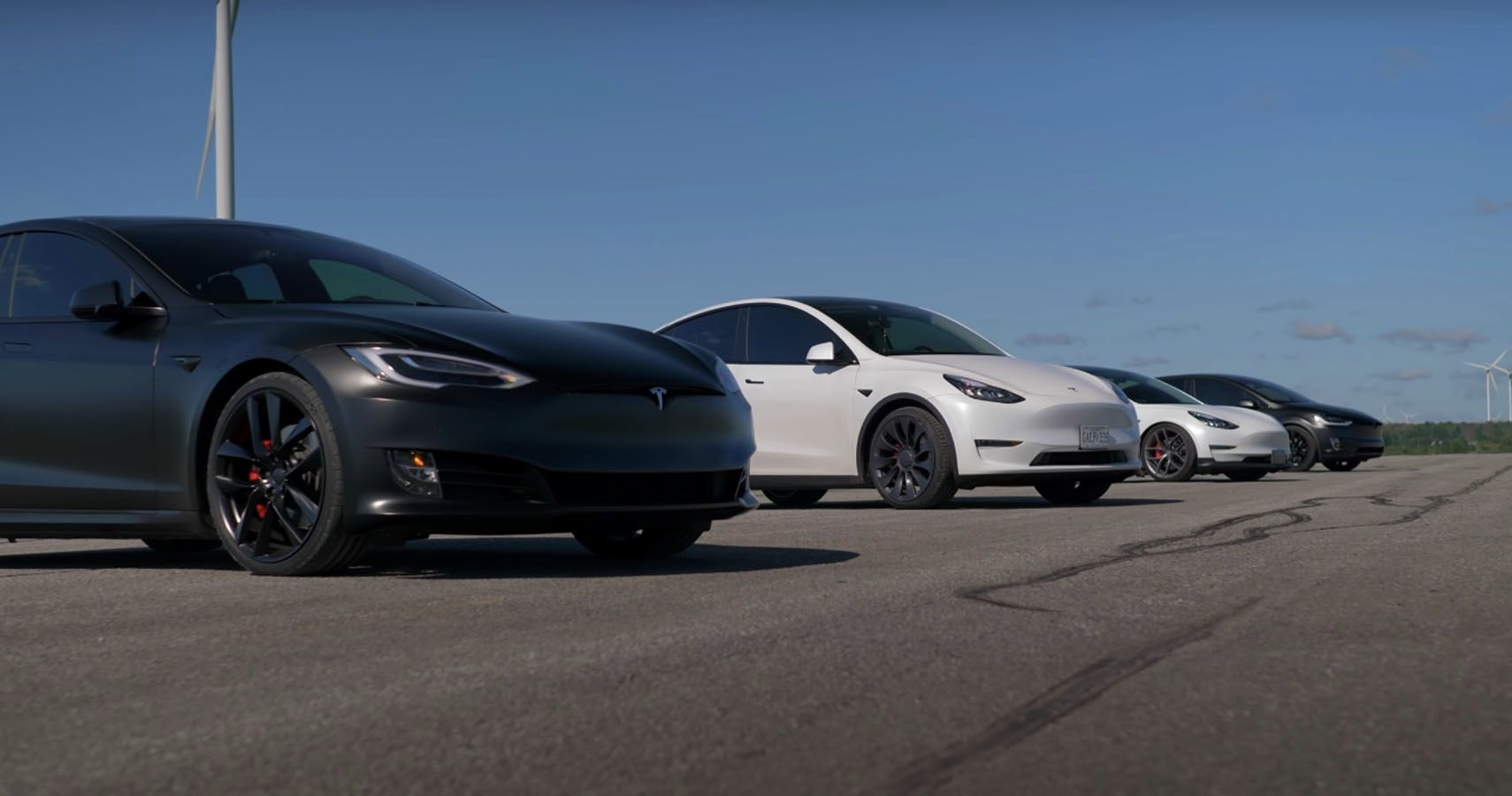 Watch The S3XY Drag Race: All Four Tesla Models Hit The Strip