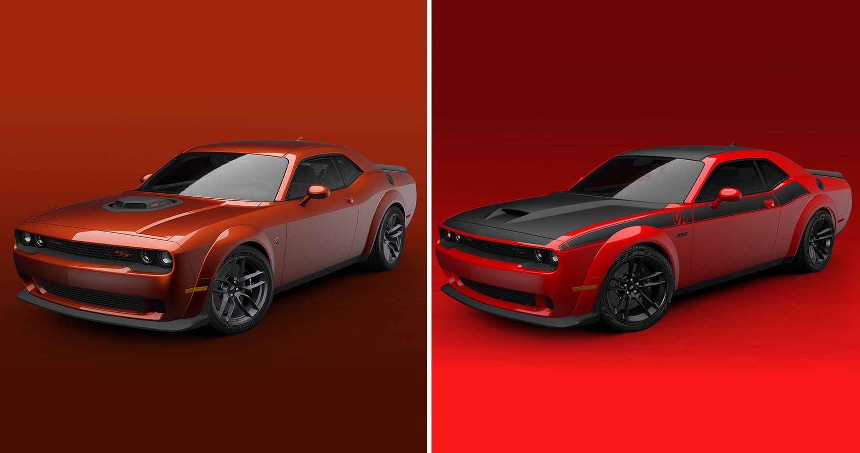 2021 Challenger R/T Scat Pack Shaker And T/A 392 Widebodies Unveiled
