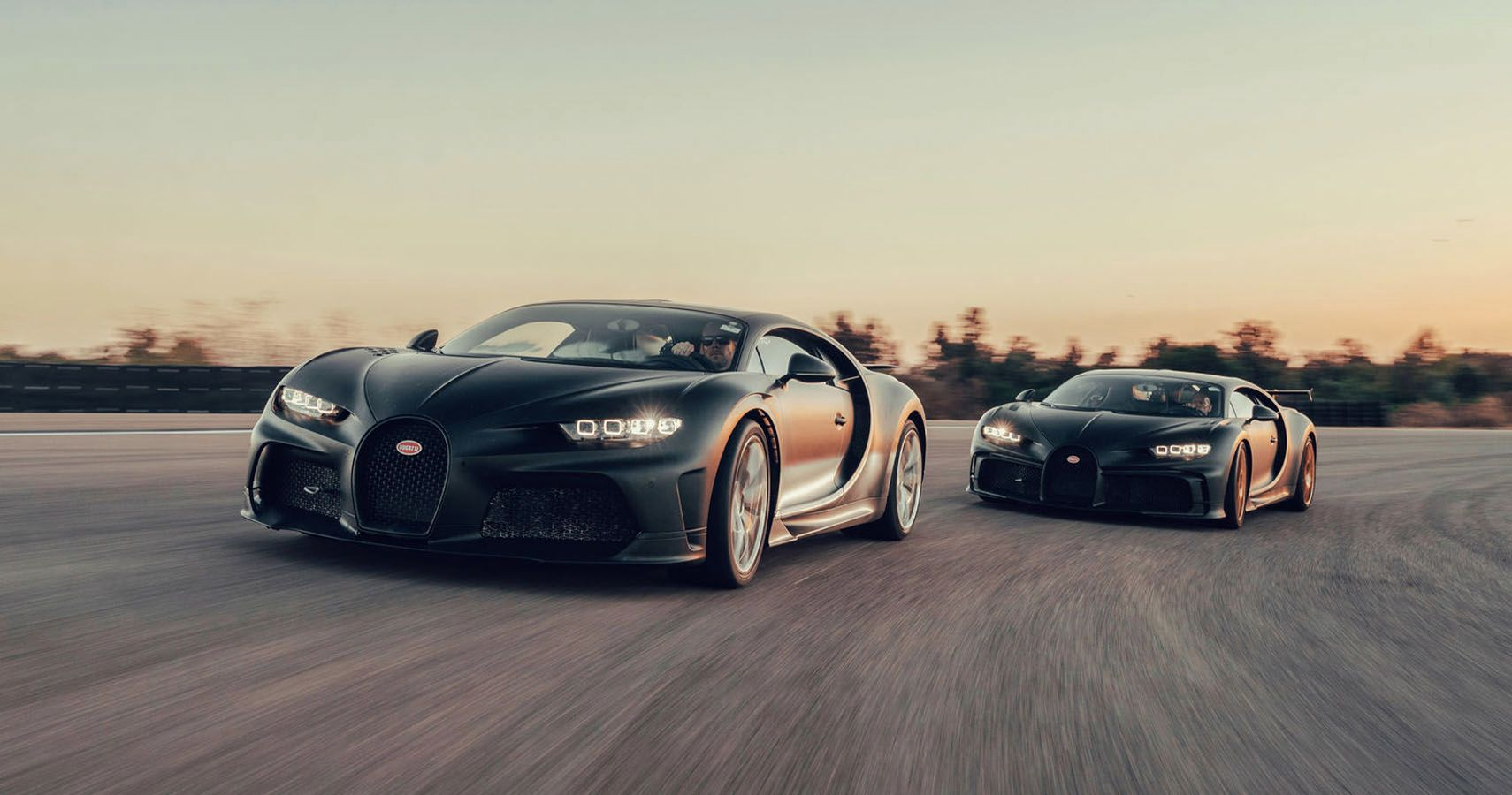 Bugatti Takes Two Chirons Out For High-Speed Testing At Nardo
