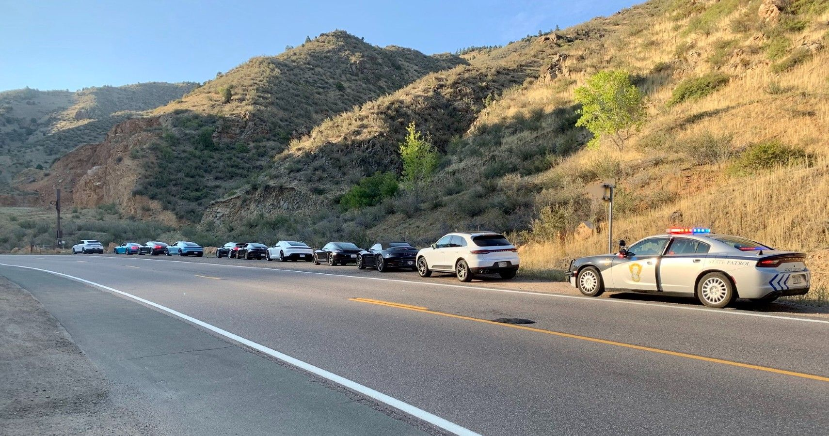 Busted: Single Trooper Tickets A 10 Car Porsche Caravan For Speeding