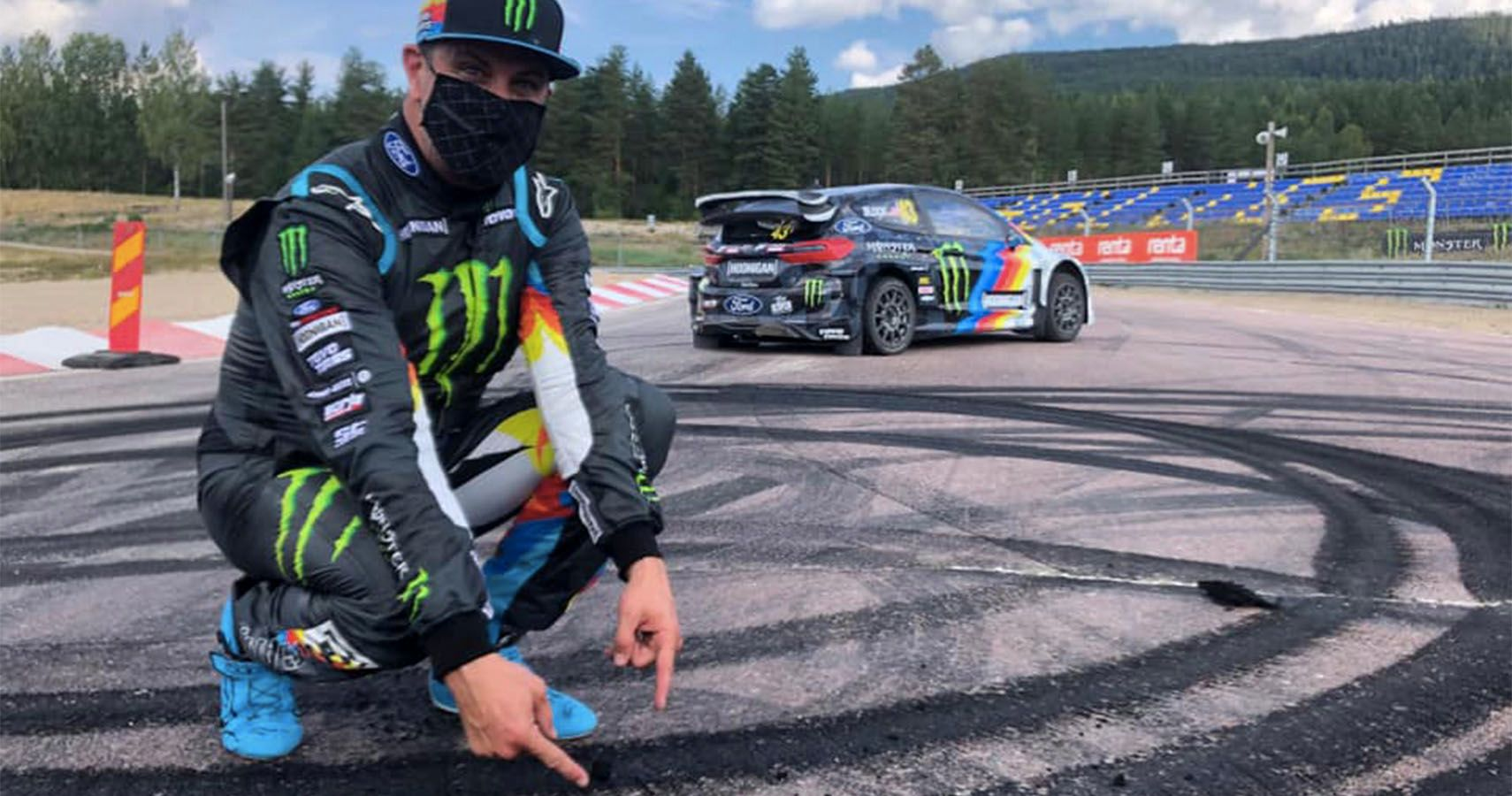 Watch Ken Block Shred Tires In The All-Electric Ford Fiesta Rally Car