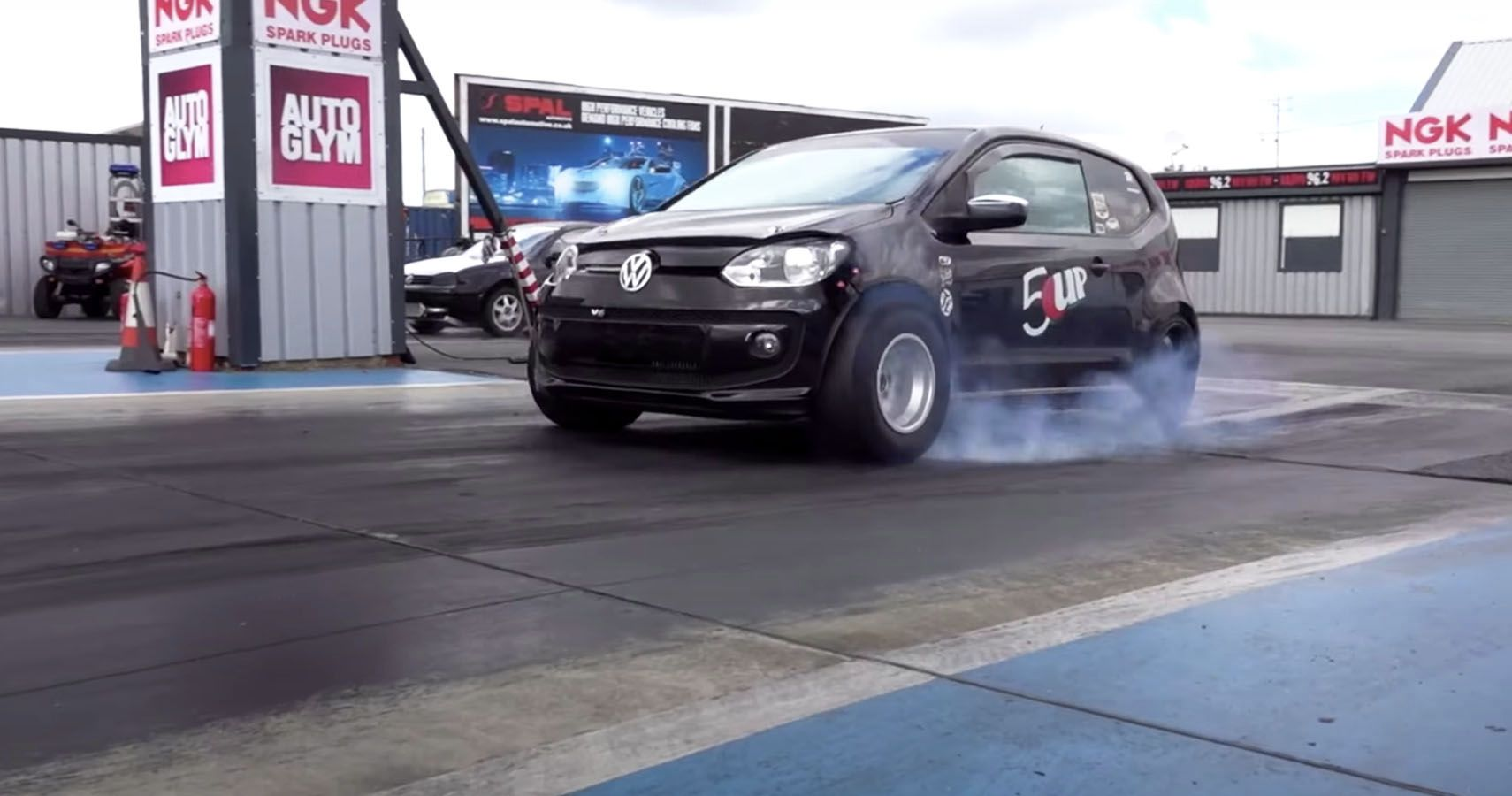Watch This NOS-Boosted VW Up Set A Drag Record In Europe