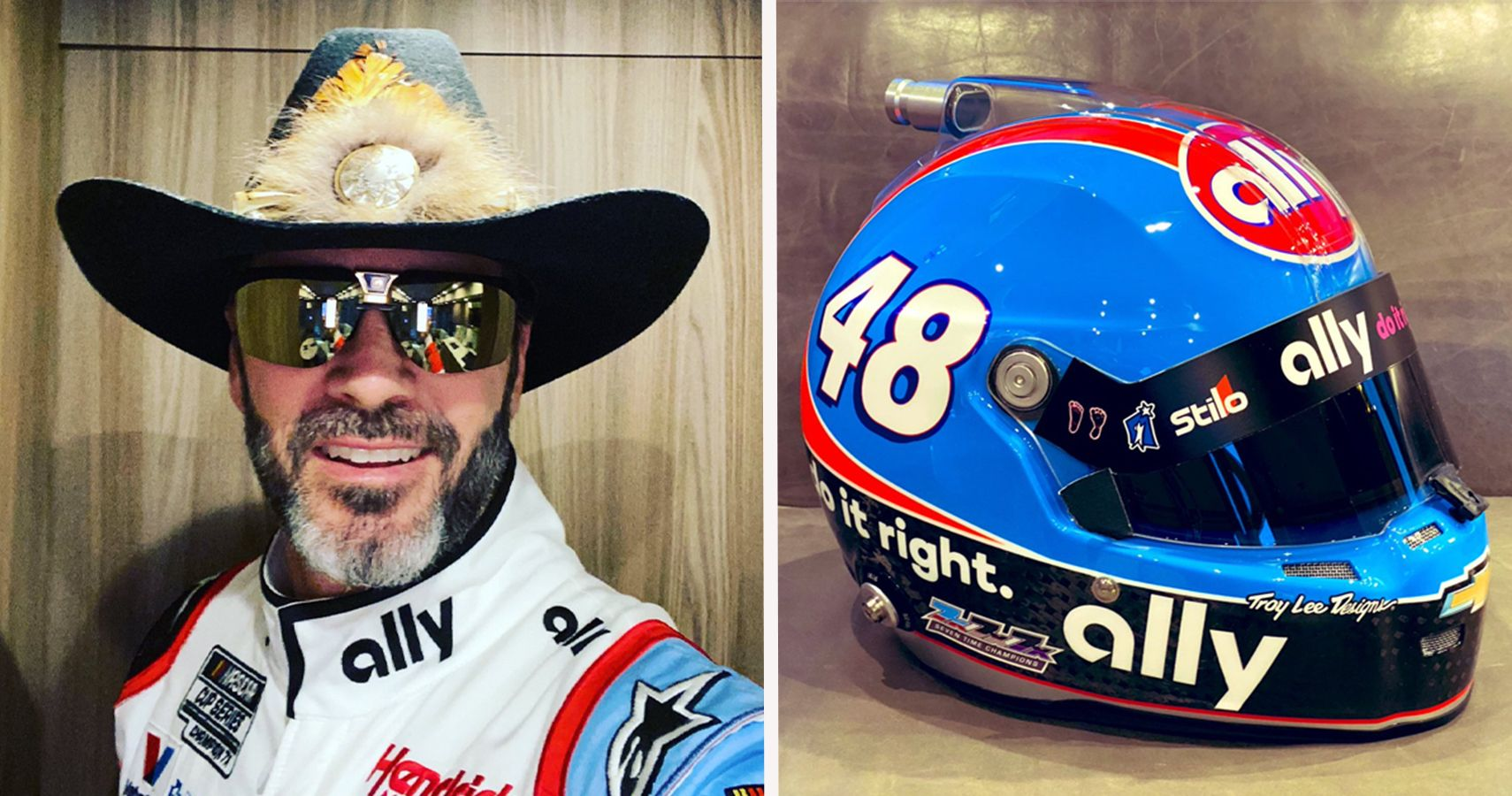 Check Out Jimmie Johnsons's Awesome Dale Earnhardt And Richard Petty Tributes