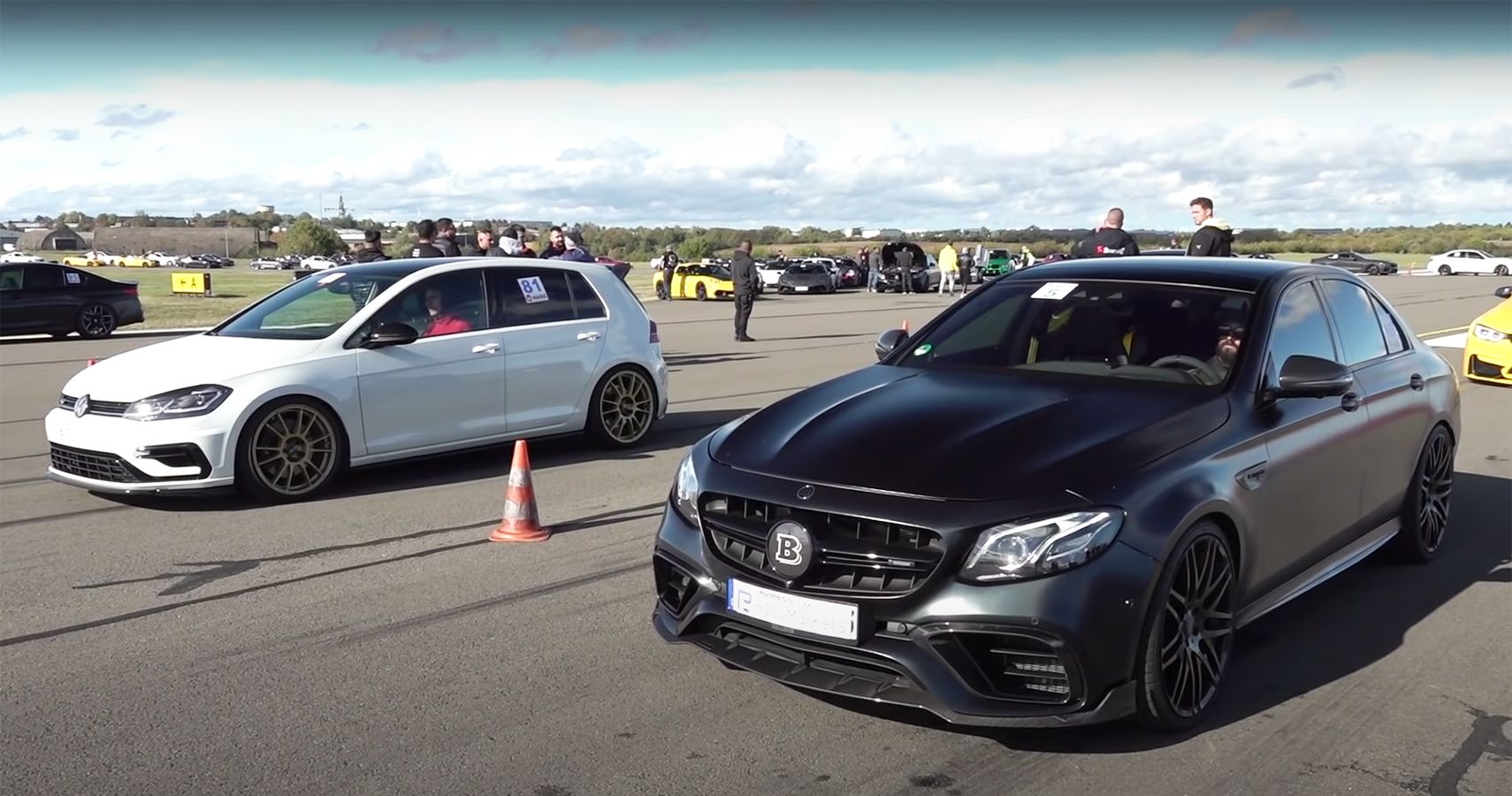 Watch A Brabus 800 E 63S Sprint To Action During A Drag Race In Germany