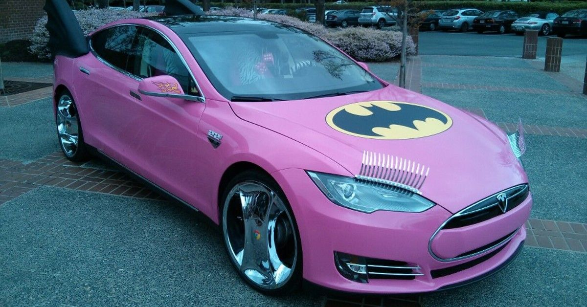 The Story Behind Google Co-Founder Sergey Brin's Hot Pink Model S Tesla
