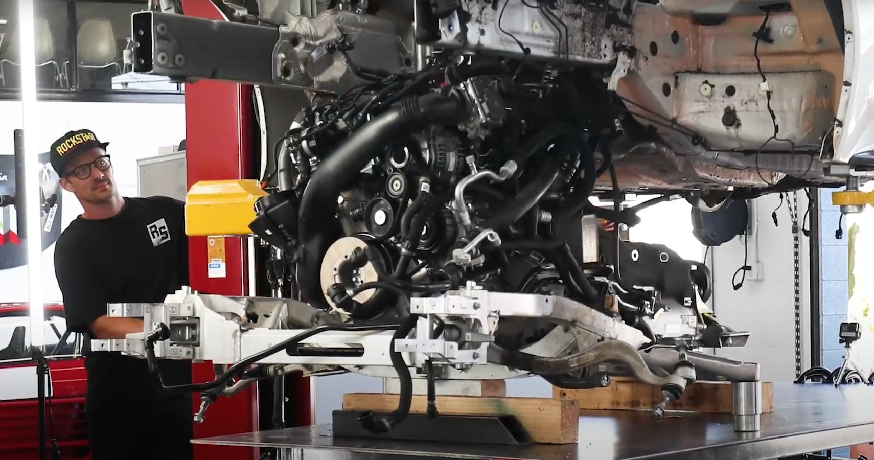 Watch Ryan Tuerck Tease This Insane Formula 1 Heritage V10-Swapped Toyota Supra