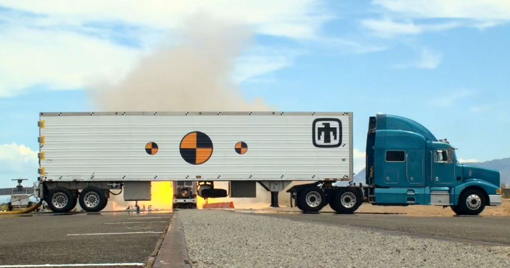 Sandia Test-Crashes Semi-Truck Into Nuclear Weapons Transporter Prototype