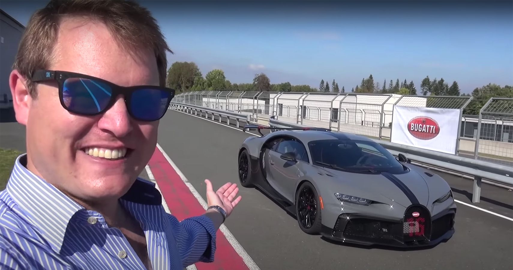 Watch Shmee150 Tackle Corners In 1500-HP Bugatti Chiron Pur Sport
