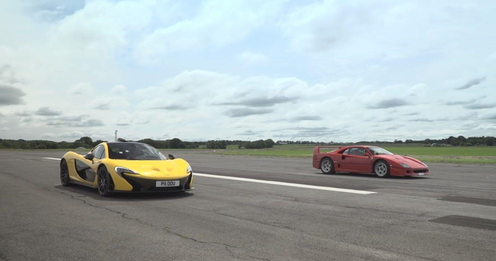McLaren P1 Vs Ferrari F40 Drag Race Pits Two Legendary Supercars Against Each Other