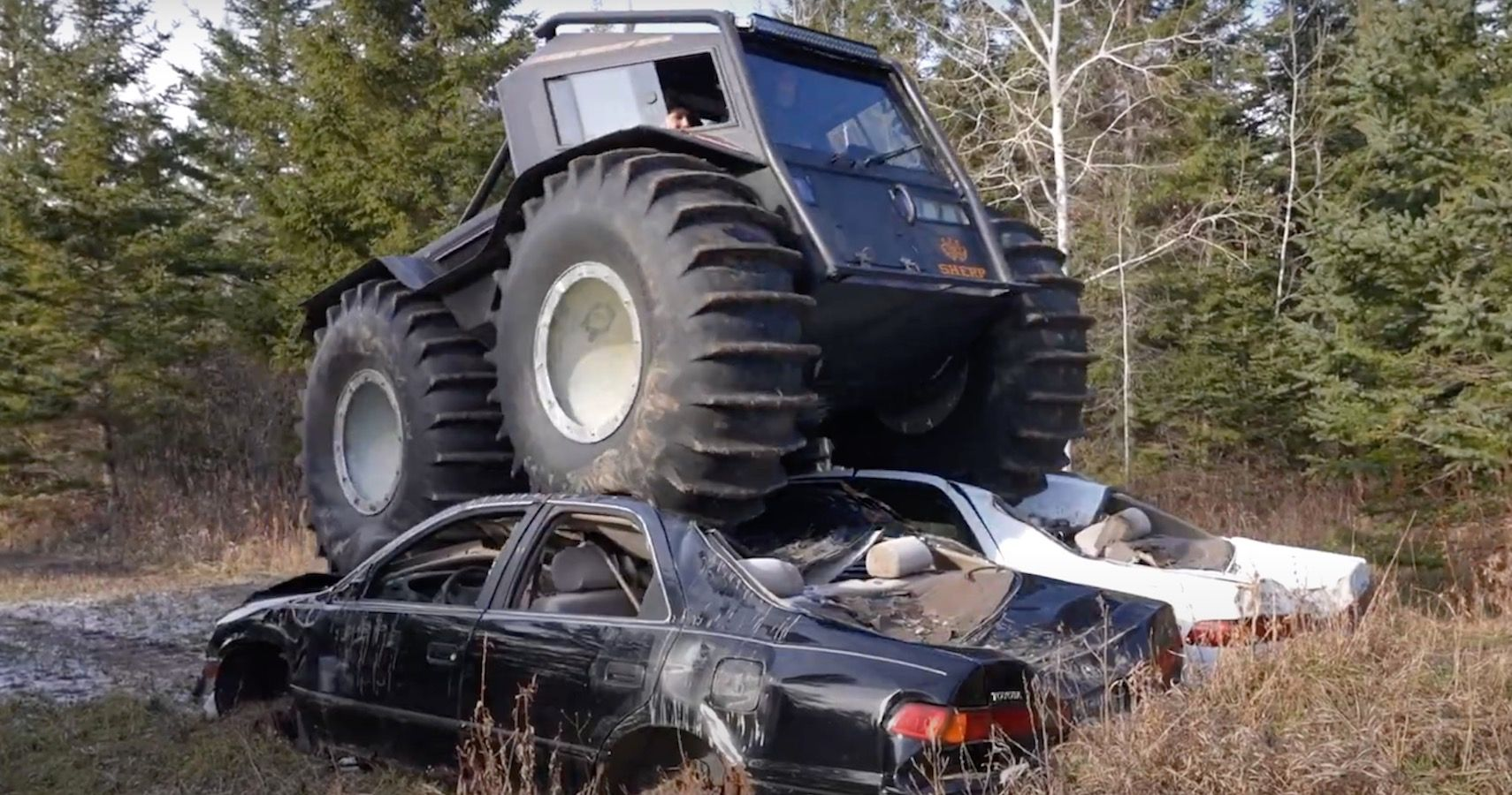 Watch A Couple YouTubers Pulverize Frozen Lakes With Giant Russian ATVs
