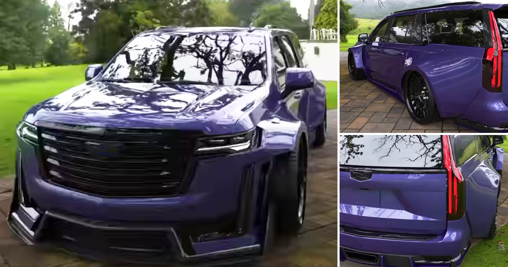 This Slammed V10-Powered Escalade Is One Crazily Conceived Cadillac