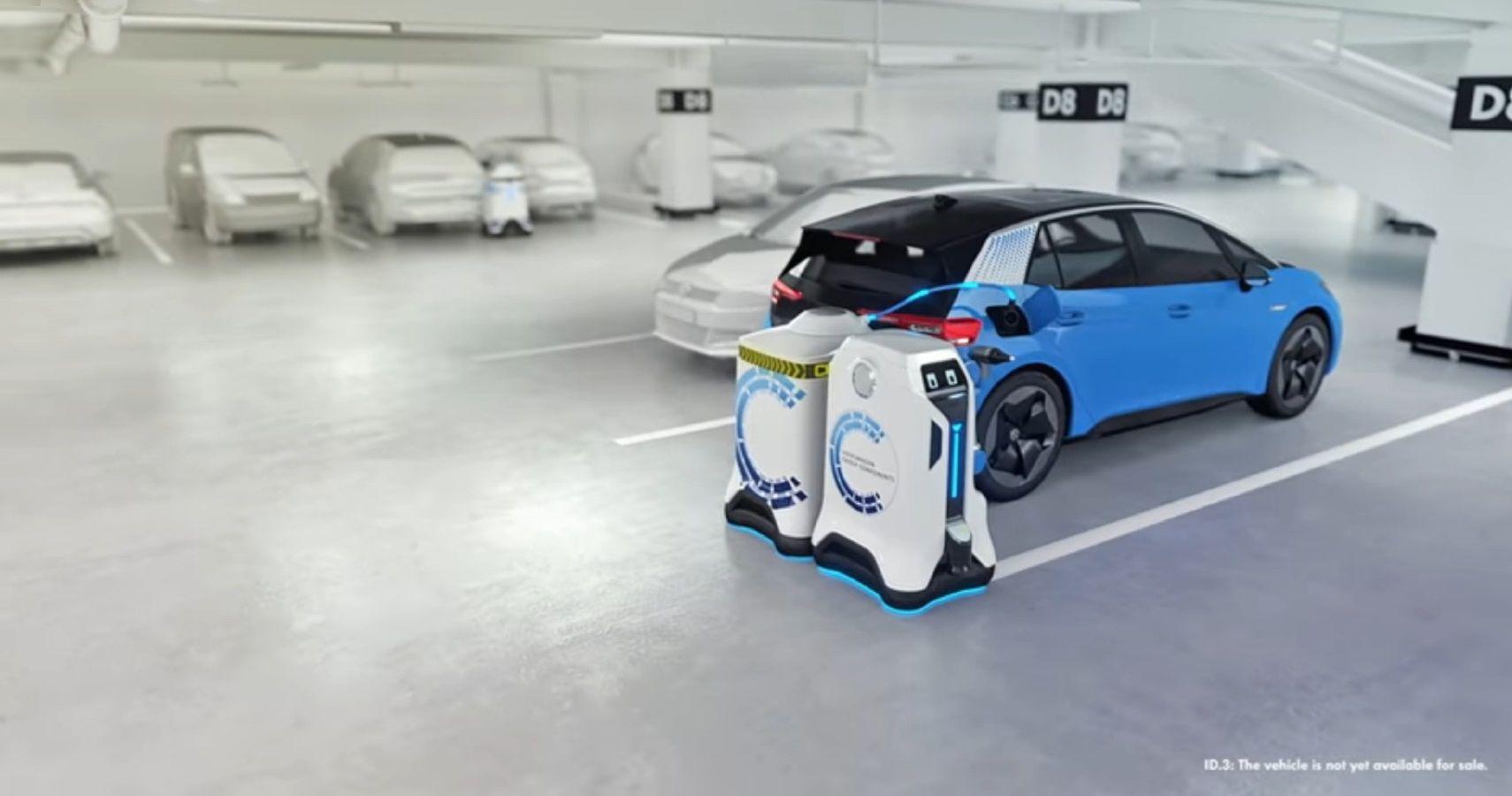 Volkswagen's Electrified Future Includes Robots For Autonomous Charging
