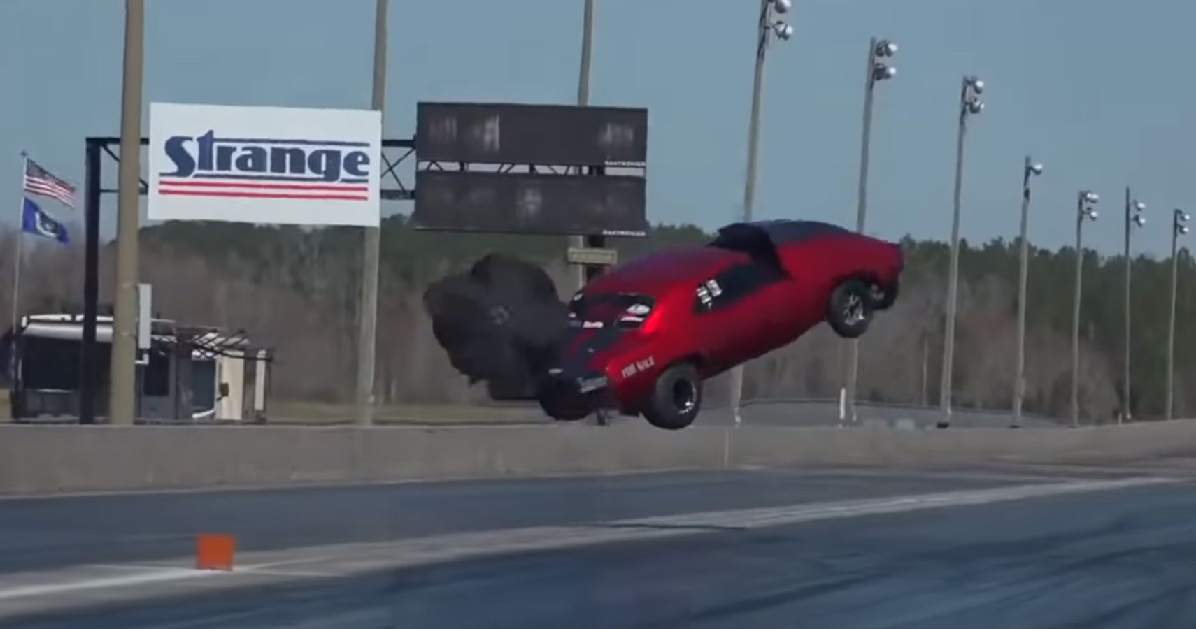 Watch This Camaro Go Airborne During A Drag Race In Georgia