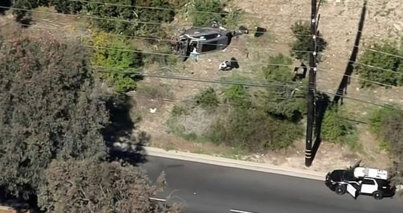 Tiger Woods Hospitalized After Rollover Crash In A Genesis GV80