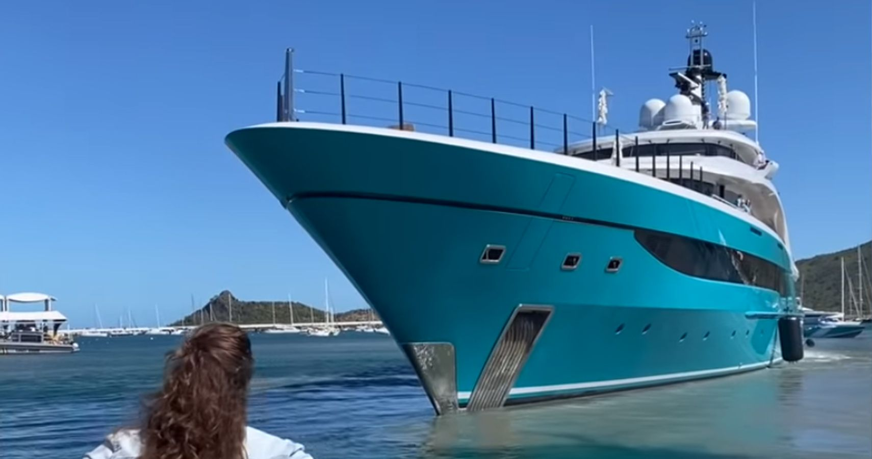 Watch This Uncontrollable Superyacht Repeatedly Crash Into A Dock
