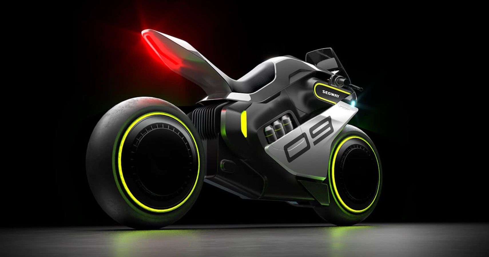 Segway Previews Cyberpunk-Esque Apex H2 Motorcycle Slated For 2023
