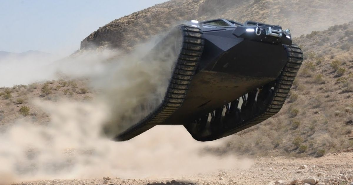 Watch This Ripsaw EV2 Tank Tear Up The Sand   HotCars