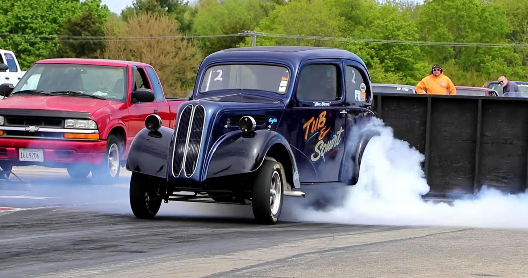This V8-Powered 1952 Ford Is A Wild Wheelie-Popping Gasser