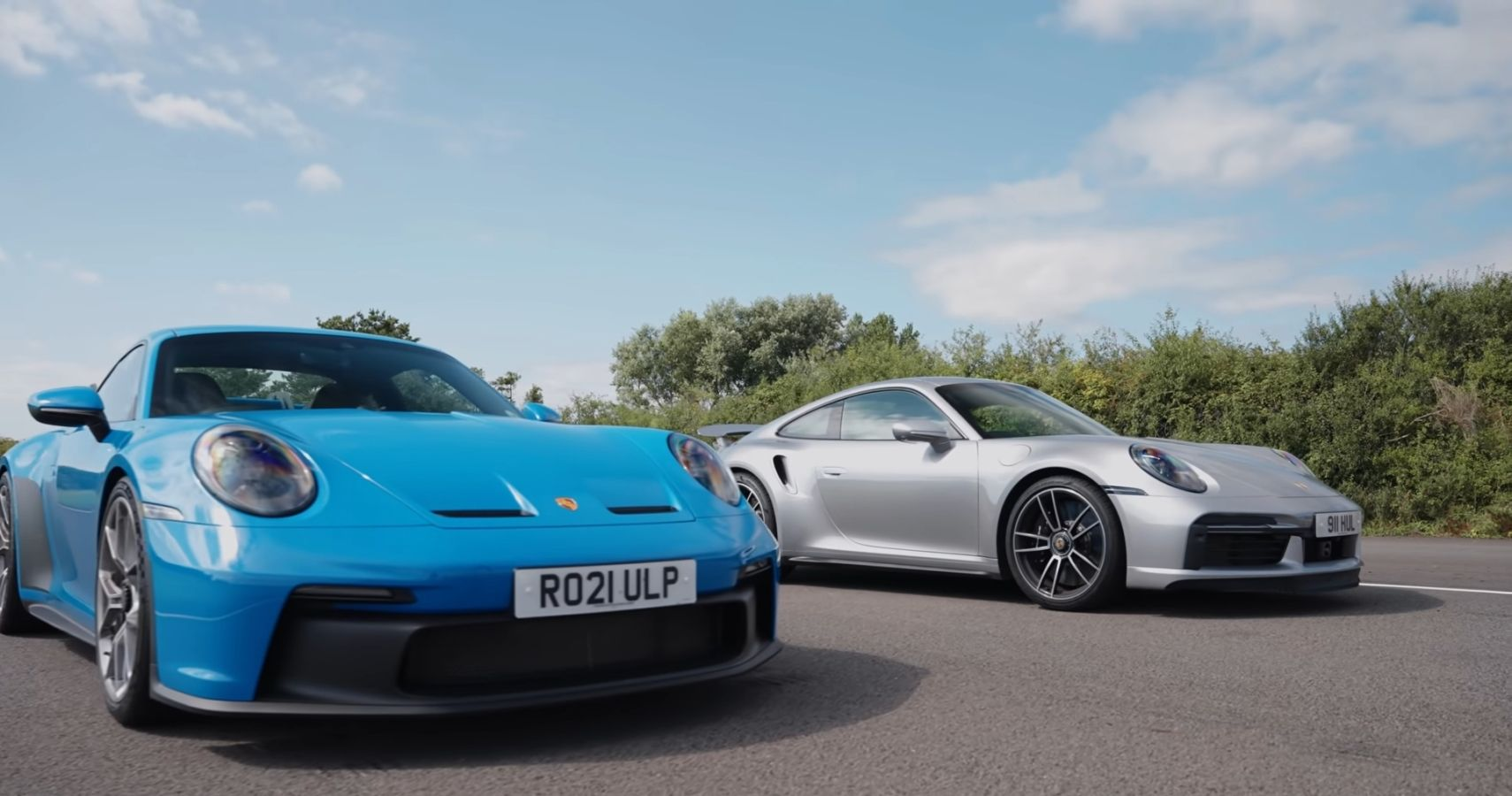 Watch The Porsche 911 GT3 Get Put Through Its Paces Against The 911 Turbo S
