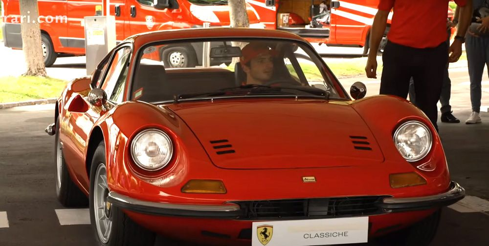 F1's Carlos Sainz Gives Honest Take On Driving A Ferrari Dino 246 GT Today